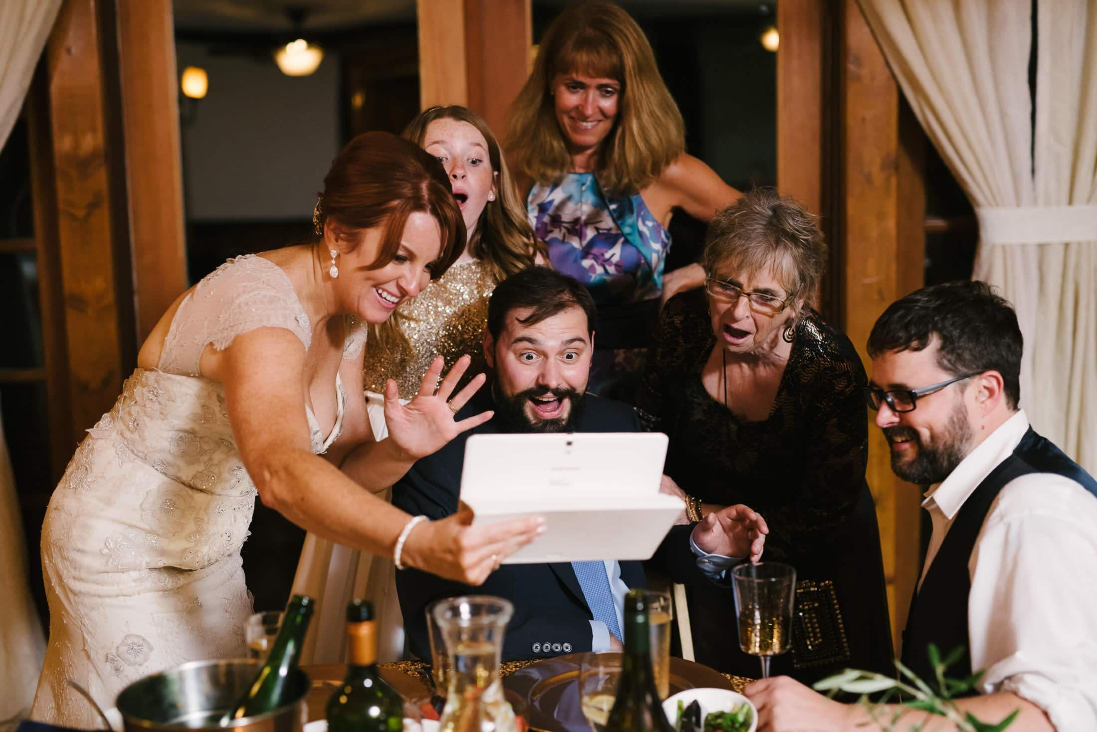fun forest house wedding reception