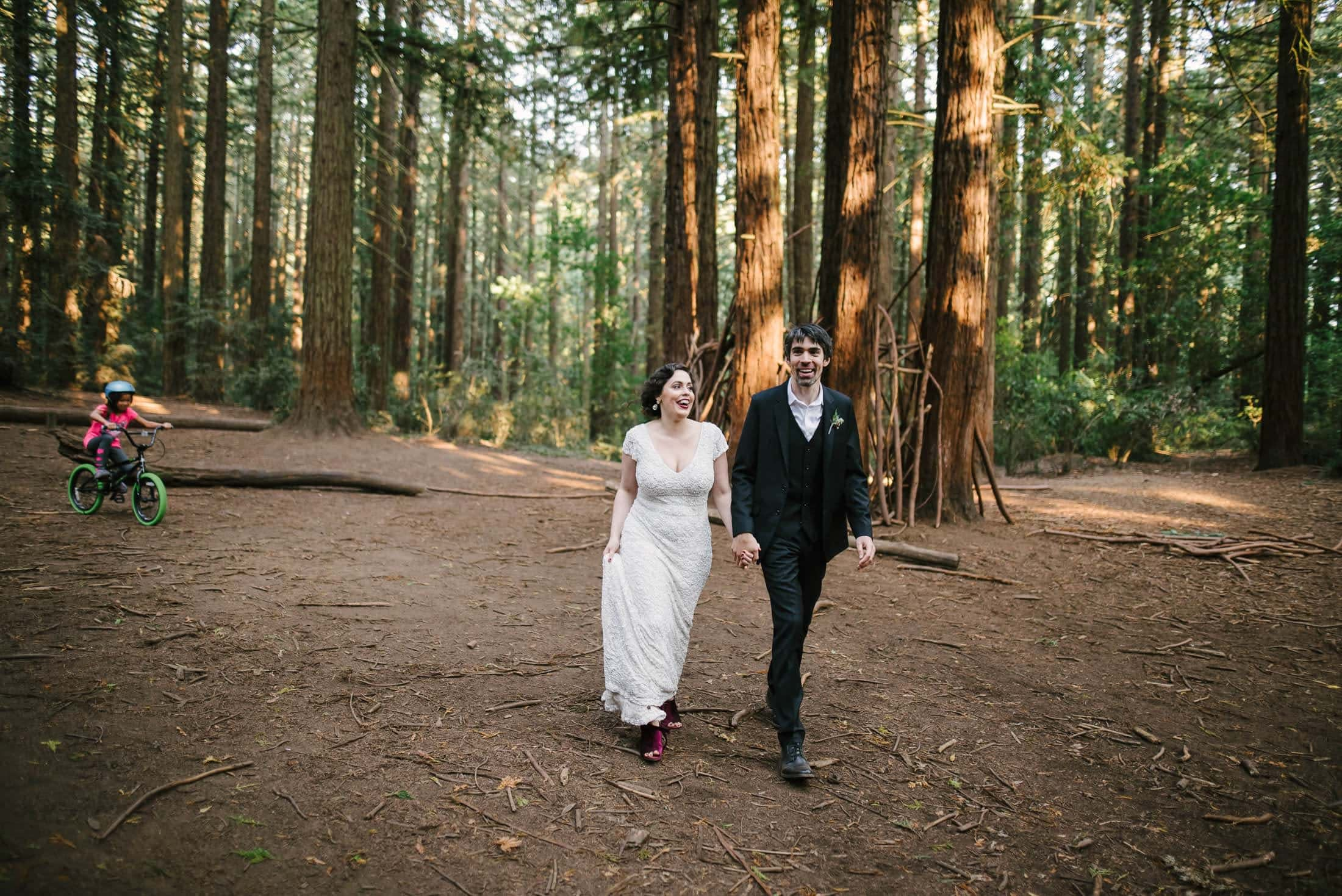 Big Trees Trail Wedding Portraits across the street from Robert's Regional Park