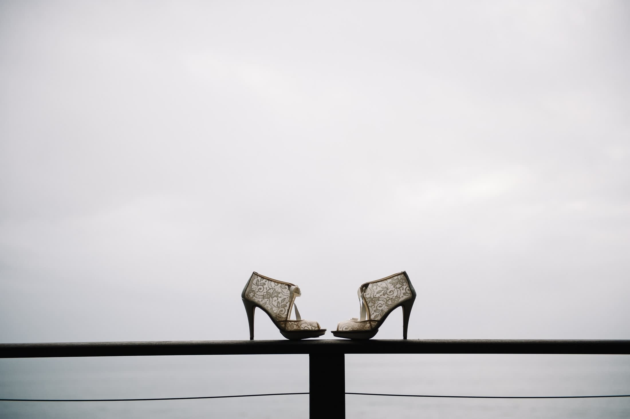 Artistic shoe detail from Wind and Sea Wedding