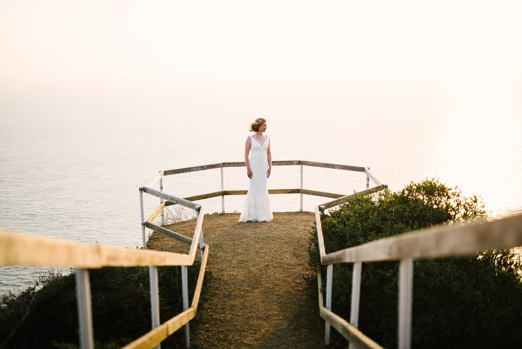 Bridal Portrait Muir Beach Lookout