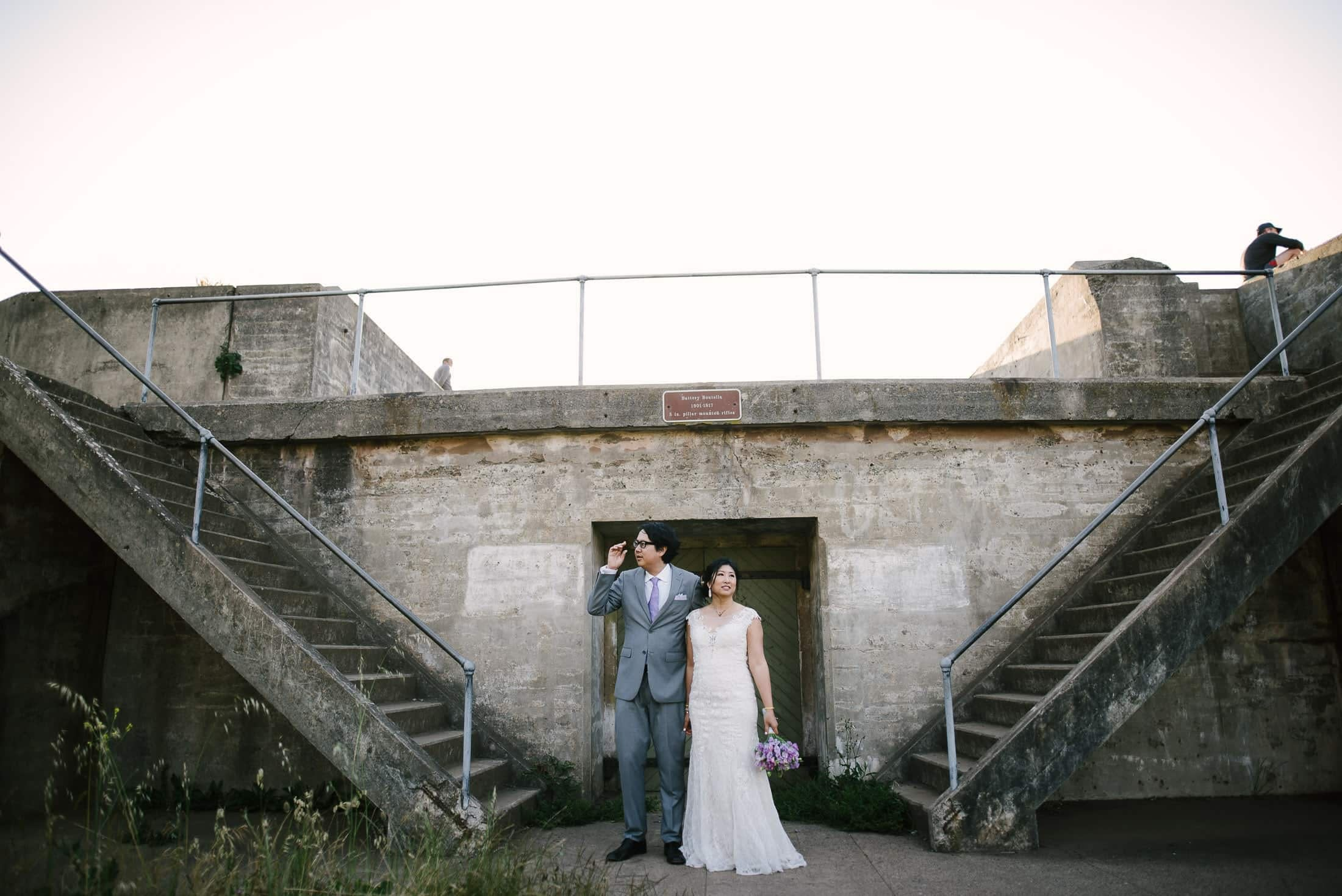 San Francisco Presidio Wedding Portrait