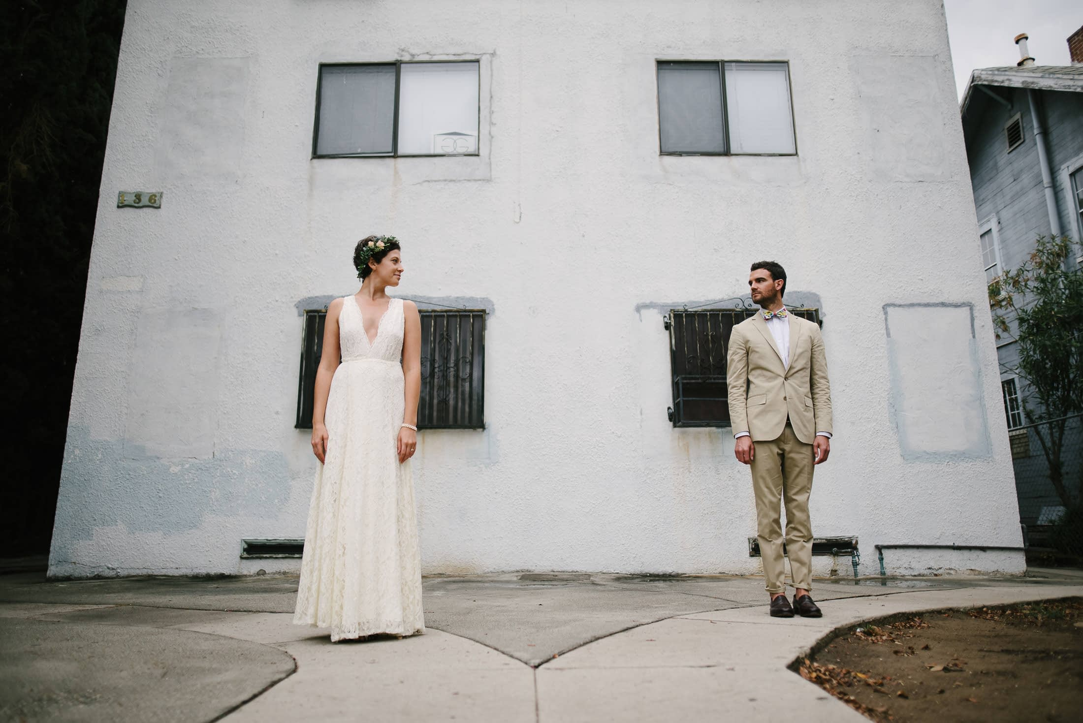 Portrait of LA Wedding Couple
