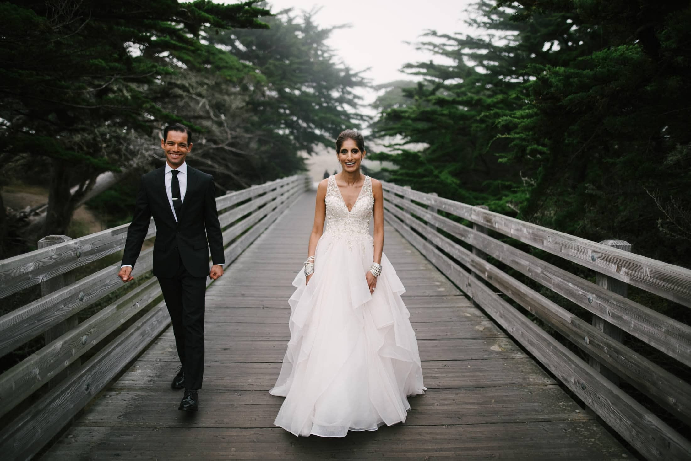 Ritz Carlton Half Moon Bay Wedding Portrait