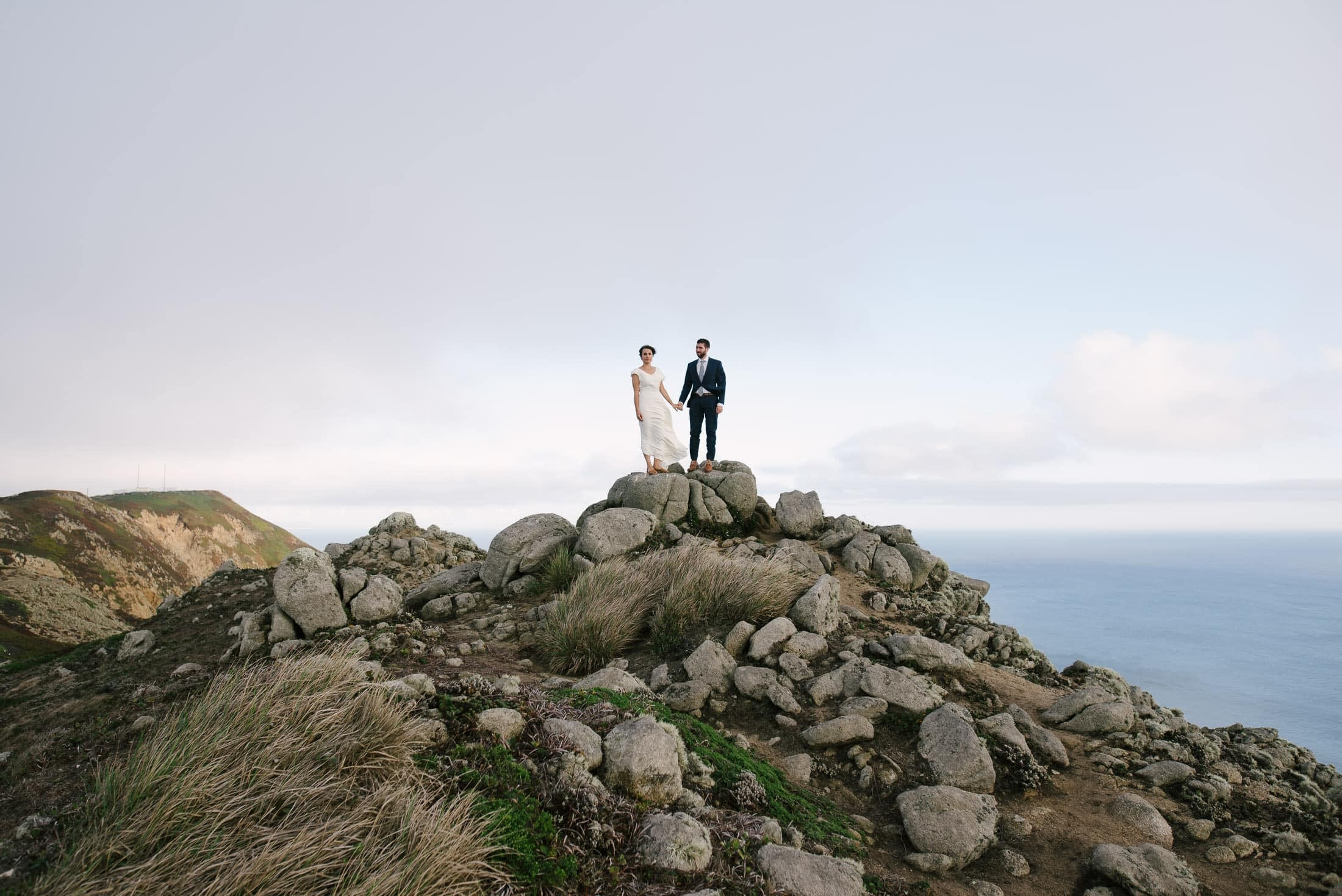 point reyes seashore wedding portrait
