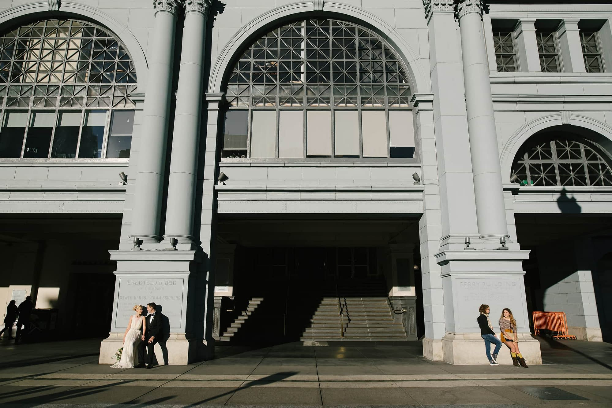Ferry Building Wedding Portrait