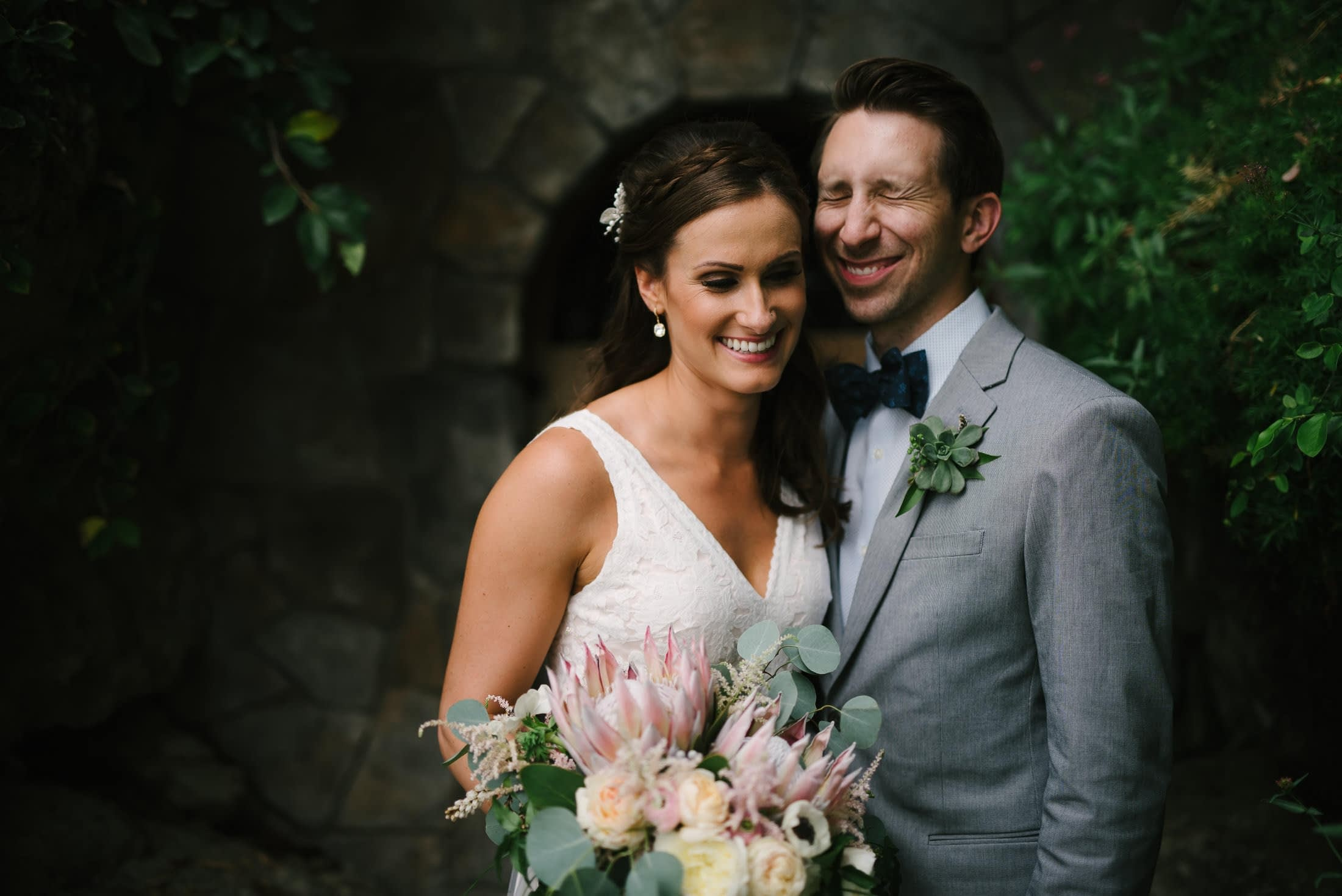 brownstone gardens wedding portrait