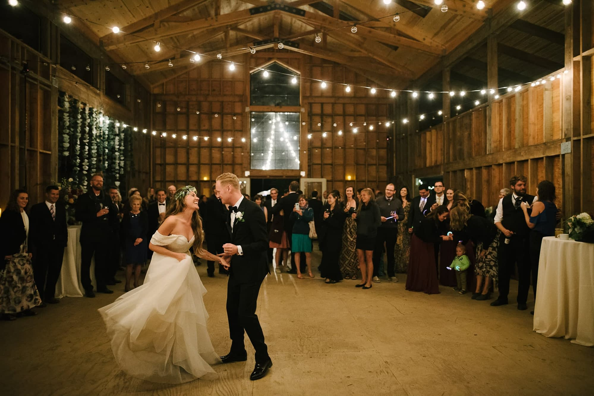 Oz Farm Wedding Barn Dancing