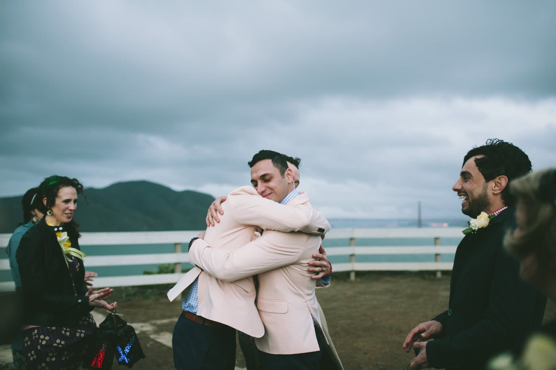 Awesome same sex wedding at the Point Bonita Light House in the Marin Headlands
