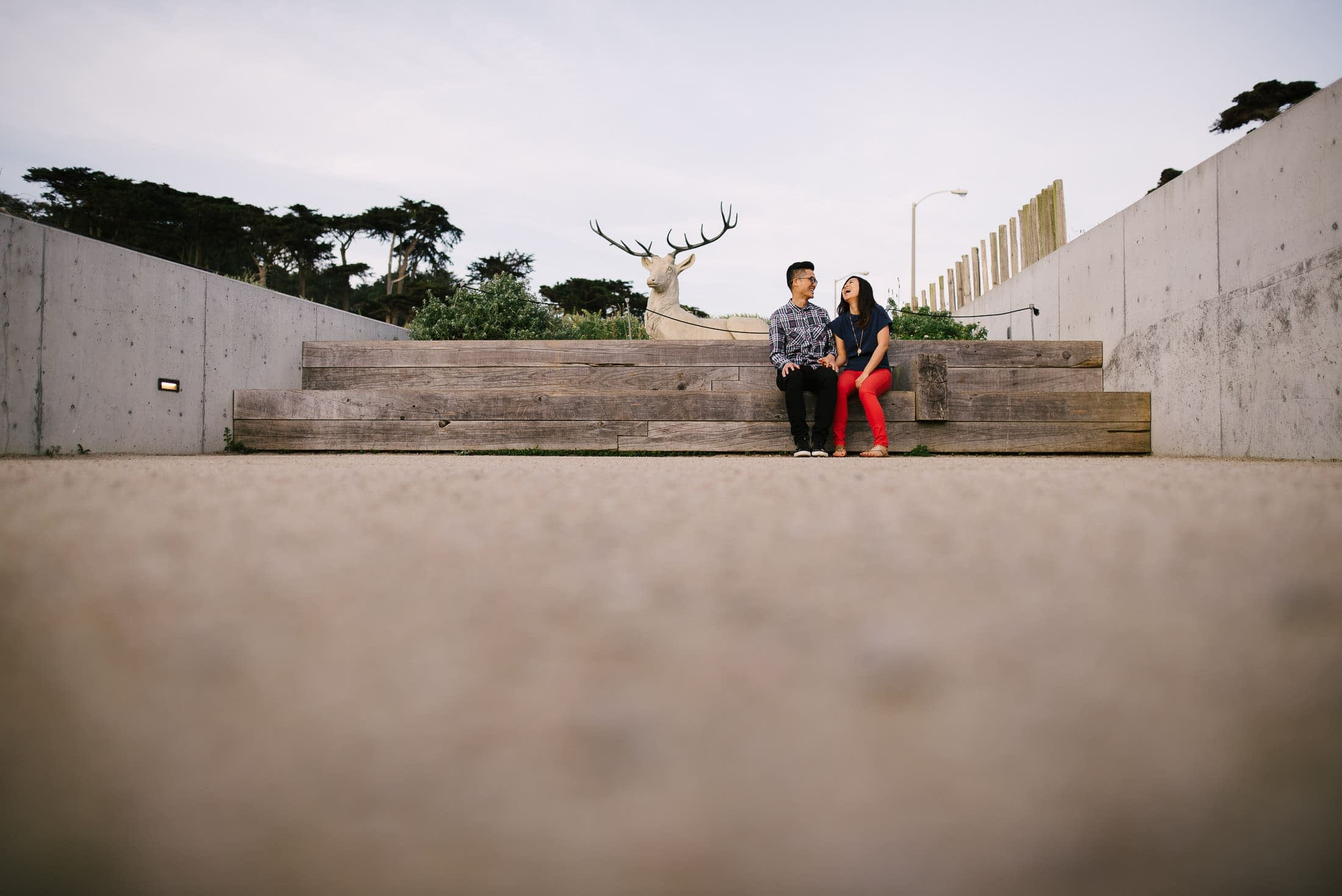 Engagement Session at Sutro Baths